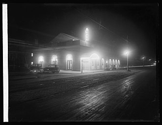Park View (Washington, D.C.) - The York Theater at night, photographed ca. 1920