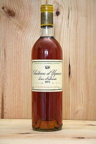 Château d'Yquem - A bottle of Yquem of 1973