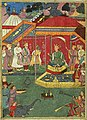 Yusuf-ali-an-illustration-from-the-razmnama--yudhishthira-and-his-brothers-ask-bhishma-for-his-permission-to.jpg