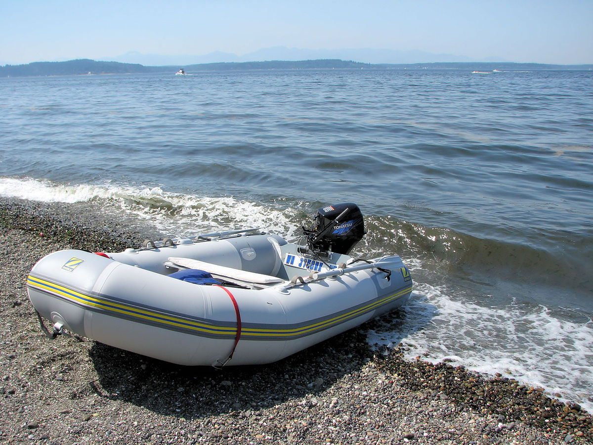 Inflatable boat wikipedia for Blow up boat for fishing