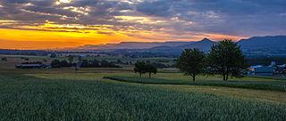 Swabian Jura low mountain range in Germany