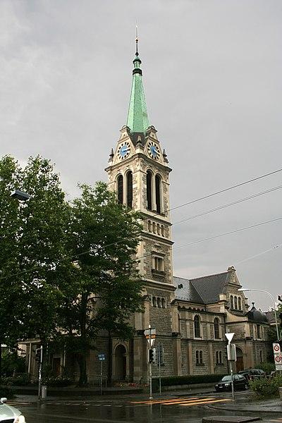 Ficheiro:Zuerich Johannes-Kirche.jpg