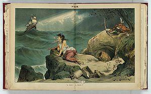 """Bourbon Democrat - Image: """"A sail! A sail!!"""" LCCN2012645216"""