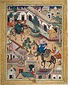 """The Spy Zambur Brings Mahiya to the City of Tawariq"", Folio from a Hamzanama (Book of Hamza) MET DT249920.jpg"