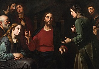 Giovanni Bernardino Azzolini - Christ in the House of Mary and Martha, private collection.