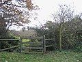 'Kissing Gate' stile near Abridge - geograph.org.uk - 91765.jpg