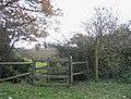 'Kissing Gate' stile near Abridge - geograph.org.uk - 91765.jpg