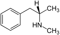 Strukturformel von (S)-N-Methylamphetamin