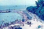 Владивосток ДЕНЬ ВМФ 1982 подлодка в Спортивной Гавани.jpg