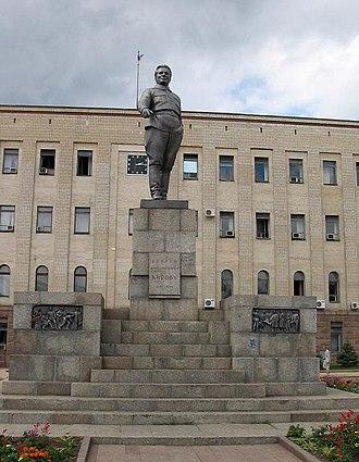 Sergey Kirov - The dismantled monument to Sergey Kirov in Kropyvnytskyi (Ukraine)