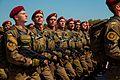 Тренування Нацгвадійців до параду військ з нагоди 25-ї річниці незалежності України IMG 6204 (28754442850).jpg