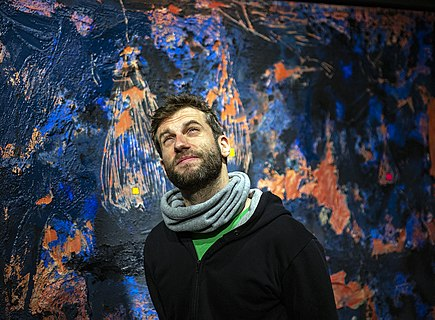 Macedonian painter and visual artist Filip Velkovski (b. 1988)