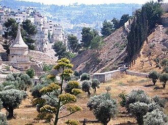 "Kidron Valley - The so-called ""Tomb of Absalom"" or the pillar of Absalom in Kidron Valley"