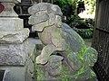 高尾山びわ滝の狛犬 Koma-inu which can be seen by Biwa-taki of Mount Takao - panoramio.jpg