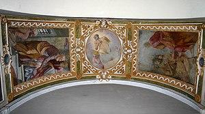 Carlo Cornara -  frescos by Carlo Cornara, left-side nave of Basilica of Sant'Ambrogio, Saint Peter's chapel