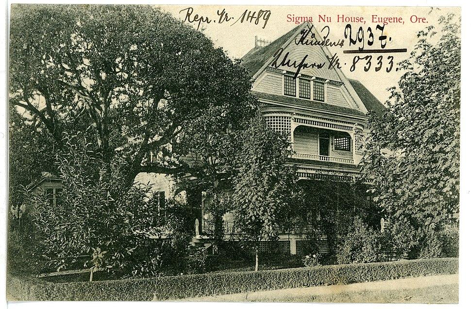 08333-Eugene, Ore.-1906-Sigma Nu House-Brück & Sohn Kunstverlag