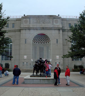 John Latenser Sr. - The eastern façade of the Latenser-designed Memorial Stadium in Lincoln.