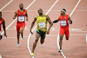 2015 World Championships in Athletics – Men's 100 metres - 100 m final moment