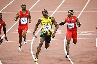2015 World Championships in Athletics – Mens 100 metres Athletics discipline event at an athletics meeting