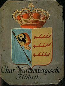 Ab 1803 hoben kurfürstliche Hoheitstafeln die Reichssturmfahne hervor (Quelle: Wikimedia)