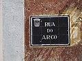 12-09-2017 Street name sign, Rua do Arco, Faro old town.JPG