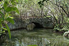 Arch Creek natural limestone bridge was the site of early settlement in Miami-Dade county