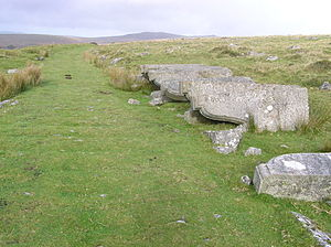 Plymouth and Dartmoor Railway - Corbels at Royal Oak; cut but never delivered