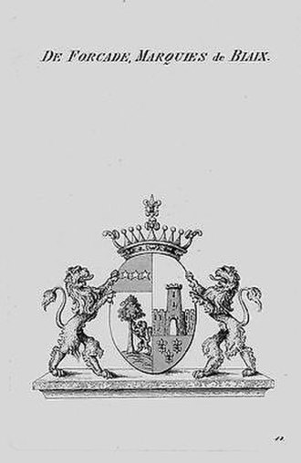 Forcade - Forcade-Biaix Coat of Arms, Prussian Branch, c. 1820