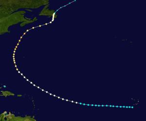 1873 Atlantic hurricane season - Image: 1873 Nova Scotia hurricane track
