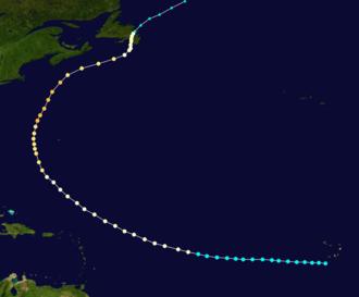 1873 Atlantic hurricane season - Image: 1873 Nova Scotia hurricane track