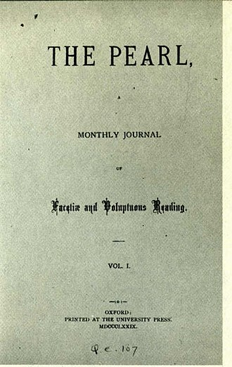 The Pearl (magazine) - Image: 1879 The Pearl title page