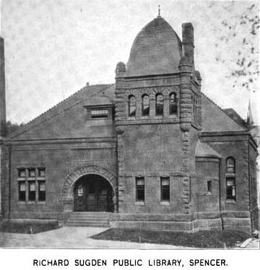1899 Spencer public library Massachusetts