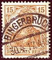 1917 Reich 15pfg Bingerbrück Mi100.jpg