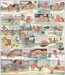 Krazy Kat Sunday comic strip