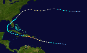 1930 Dominican Republic hurricane - Image: 1930 Dominican Republic hurricane track