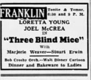 <i>Three Blind Mice</i> (1938 film) 1938 film by William A. Seiter