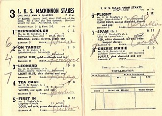 LKS Mackinnon Stakes - Image: 1946 VRC L.K.S. Mackinnon Stakes Racebook P3