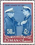 1964 stamp of Ajman JFK 3a.jpg
