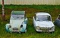 1965-1974 Citroën 2CV and 1971 DAF 33, Saint-Cirq-Madelon, Lot, France (8481235067).jpg