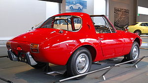 Toyota Sports 800 - Rear view of 1965 Sports 800 with roof panel removed