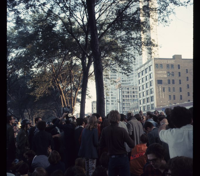 1968 Democratic National Convention, Chicago. Sept 68 C15 10 1316 , Photo by Bea A Corson, Chicago. Purchased at estate sale in 2011 by Victor Grigas Released Public Domain.tif