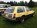 1977 AMC Pacer DL station wagon yellow-c Mason-Dixon Dragway 2014.jpg