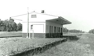 Byford, Western Australia - The old Byford railway station, shortly before its demolition (1987).