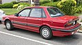 1989 Mitsubishi Galant in red, rear left.jpg