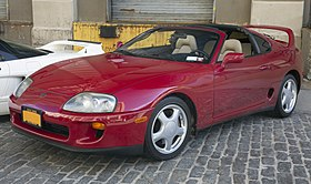 1994 Toyota Supra Sport Roof in Red, front left.jpg