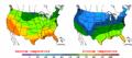 2002-10-09 Color Max-min Temperature Map NOAA.png