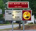2004 church sign turn or burn.jpg