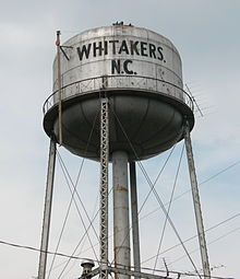 2005-06-25 Whitakers, NC water tower.jpg
