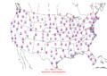 2006-02-10 Max-min Temperature Map NOAA.png