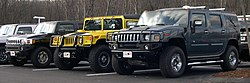 2006 Hummer H3 H1 and H2.jpg